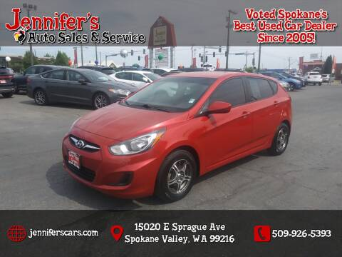 2012 Hyundai Accent for sale at Jennifer's Auto Sales in Spokane Valley WA