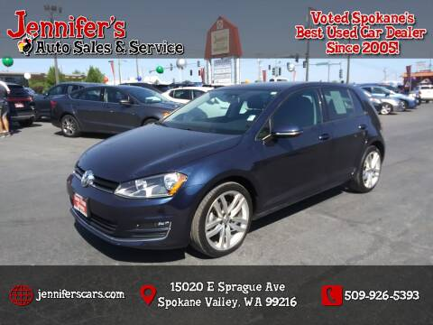 2015 Volkswagen Golf for sale at Jennifer's Auto Sales in Spokane Valley WA