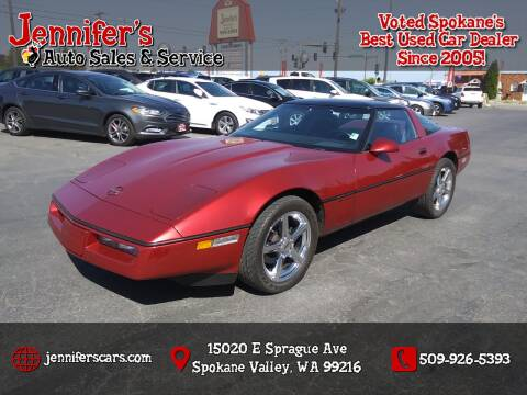 1989 Chevrolet Corvette for sale at Jennifer's Auto Sales in Spokane Valley WA