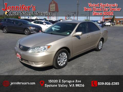2005 Toyota Camry for sale at Jennifer's Auto Sales in Spokane Valley WA
