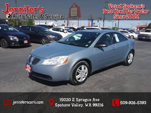 2007 Pontiac G6 for sale at Jennifer's Auto Sales in Spokane Valley WA