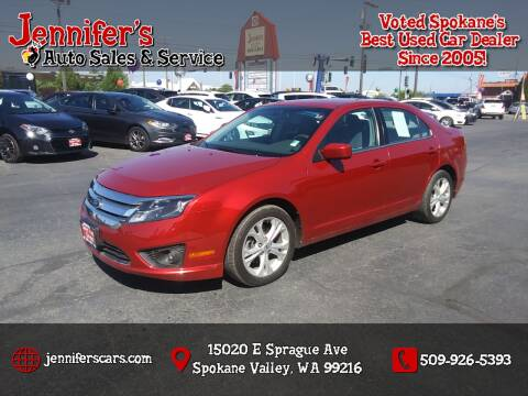 2012 Ford Fusion for sale at Jennifer's Auto Sales in Spokane Valley WA