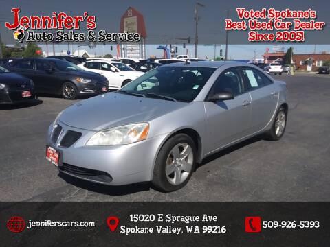 2009 Pontiac G6 for sale at Jennifer's Auto Sales in Spokane Valley WA