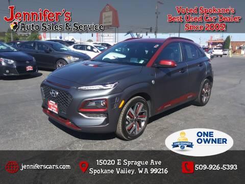 2019 Hyundai Kona for sale at Jennifer's Auto Sales in Spokane Valley WA