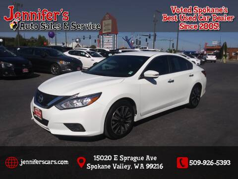 2018 Nissan Altima for sale at Jennifer's Auto Sales in Spokane Valley WA