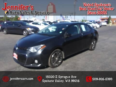 2015 Toyota Corolla for sale at Jennifer's Auto Sales in Spokane Valley WA
