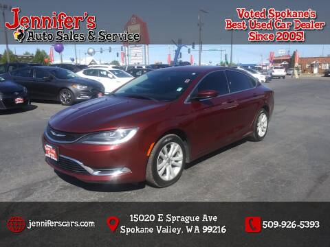 2015 Chrysler 200 for sale at Jennifer's Auto Sales in Spokane Valley WA