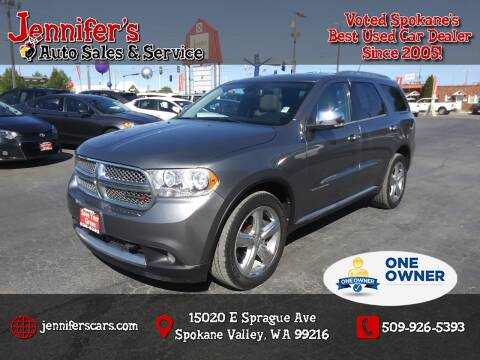 2013 Dodge Durango for sale at Jennifer's Auto Sales in Spokane Valley WA