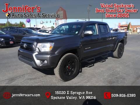 2015 Toyota Tacoma for sale at Jennifer's Auto Sales in Spokane Valley WA