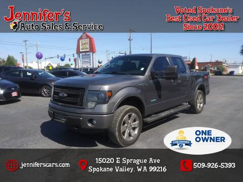 2013 Ford F-150 for sale at Jennifer's Auto Sales in Spokane Valley WA