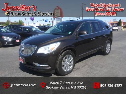 2013 Buick Enclave for sale at Jennifer's Auto Sales in Spokane Valley WA