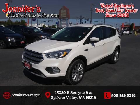 2017 Ford Escape for sale at Jennifer's Auto Sales in Spokane Valley WA