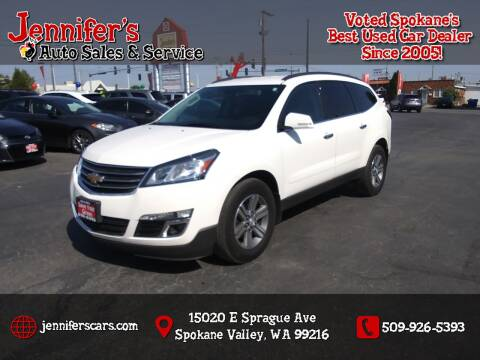 2015 Chevrolet Traverse for sale at Jennifer's Auto Sales in Spokane Valley WA