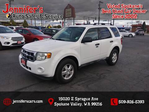 2011 Ford Escape for sale at Jennifer's Auto Sales in Spokane Valley WA