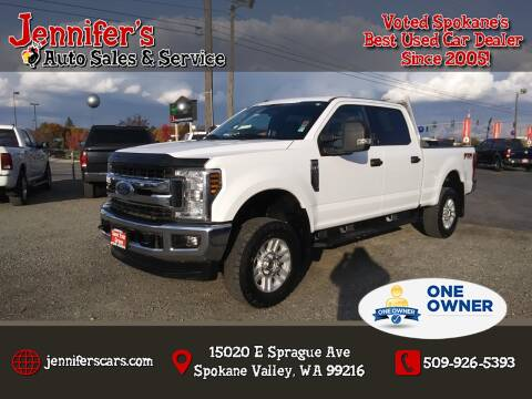 2018 Ford F-250 Super Duty for sale at Jennifer's Auto Sales in Spokane Valley WA