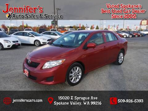 2009 Toyota Corolla for sale at Jennifer's Auto Sales in Spokane Valley WA