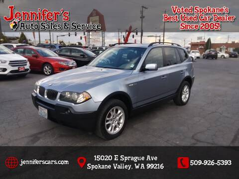2004 BMW X3 for sale at Jennifer's Auto Sales in Spokane Valley WA