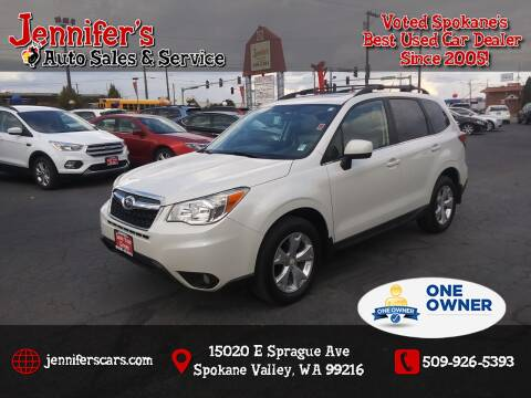 2014 Subaru Forester for sale at Jennifer's Auto Sales in Spokane Valley WA