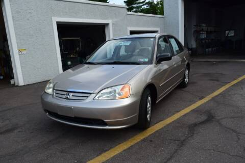 2002 Honda Civic for sale at L&J AUTO SALES in Birdsboro PA