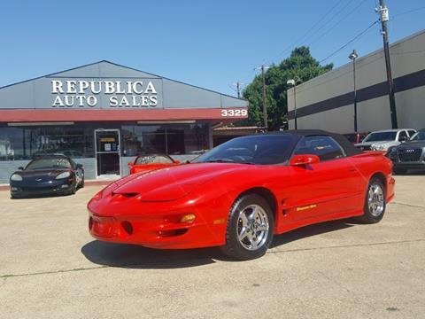2001 Pontiac Firebird for sale in Garland, TX