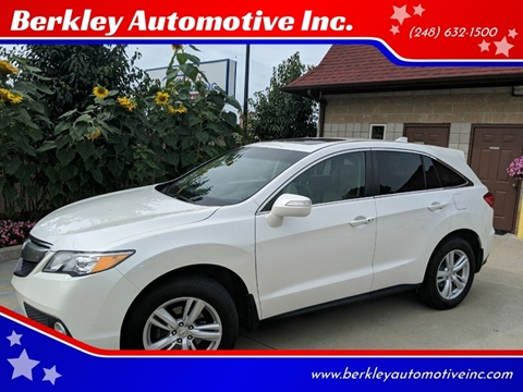 2015 Acura Rdx For Sale >> Acura Rdx For Sale In Berkley Mi Berkley Automotive Inc