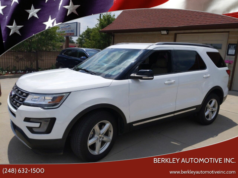 2016 Ford Explorer for sale at Berkley Automotive Inc. in Berkley MI
