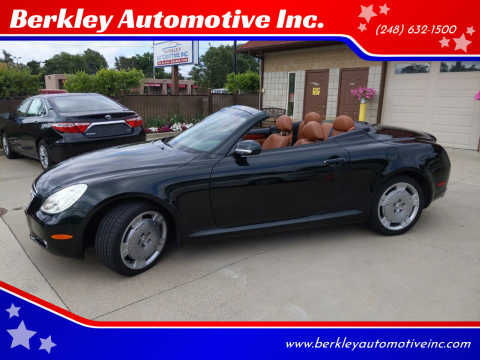2002 Lexus SC 430 for sale at Berkley Automotive Inc. in Berkley MI