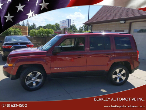 2016 Jeep Patriot for sale at Berkley Automotive Inc. in Berkley MI