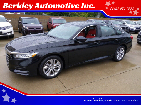 2019 Honda Accord for sale at Berkley Automotive Inc. in Berkley MI