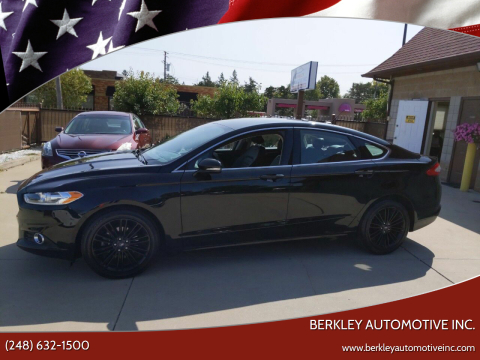 2016 Ford Fusion for sale at Berkley Automotive Inc. in Berkley MI