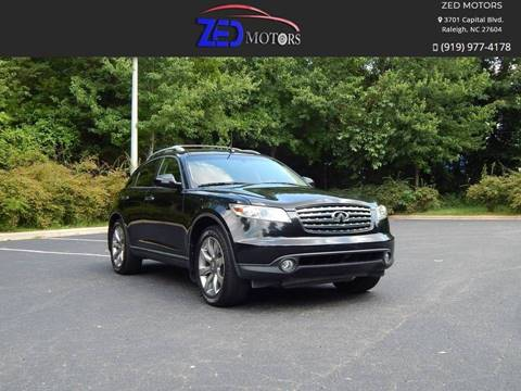 2004 Infiniti FX35 for sale at Zed Motors in Raleigh NC