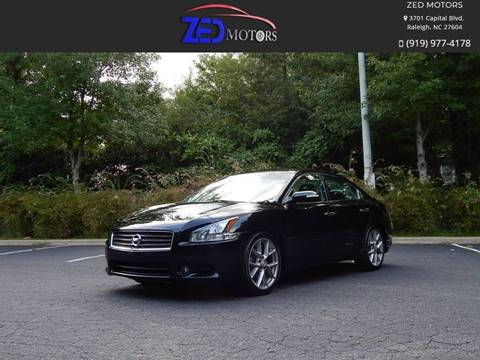 2011 Nissan Maxima for sale at Zed Motors in Raleigh NC