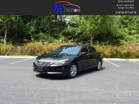 2011 Honda Accord for sale at Zed Motors in Raleigh NC