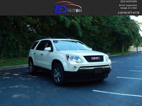 2009 GMC Acadia for sale at Zed Motors in Raleigh NC