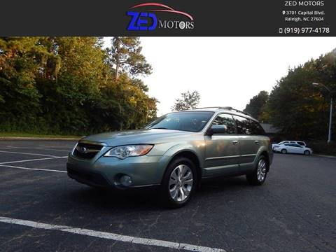 2009 Subaru Outback for sale at Zed Motors in Raleigh NC