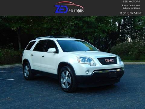 2011 GMC Acadia for sale at Zed Motors in Raleigh NC