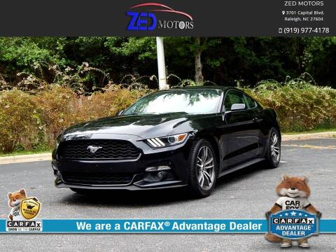 2017 Ford Mustang for sale at Zed Motors in Raleigh NC