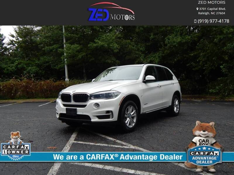 2015 BMW X5 for sale at Zed Motors in Raleigh NC