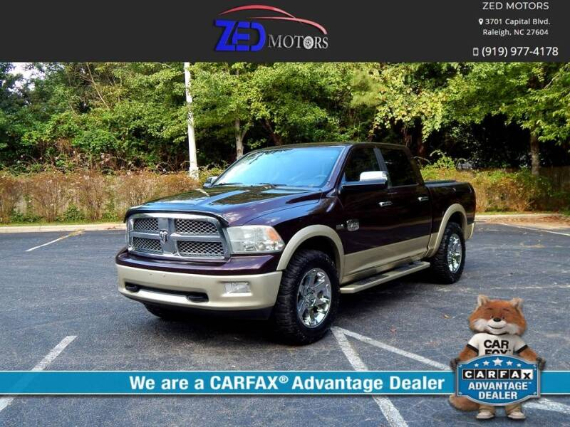 2012 RAM Ram Pickup 1500 for sale at Zed Motors in Raleigh NC