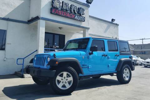 2017 Jeep Wrangler Unlimited for sale at Fastrack Auto Inc in Rosemead CA