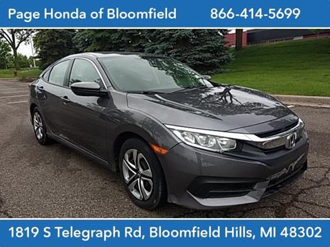 2018 Honda Civic for sale in Bloomfield Hills, MI