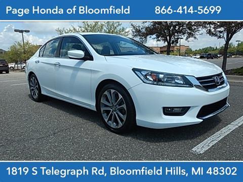 2014 Honda Accord for sale in Bloomfield Hills, MI