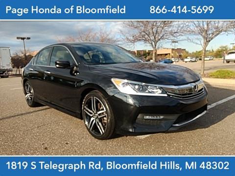 2017 Honda Accord for sale in Bloomfield Hills, MI