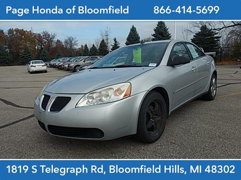 2009 Pontiac G6 for sale in Bloomfield Hills, MI