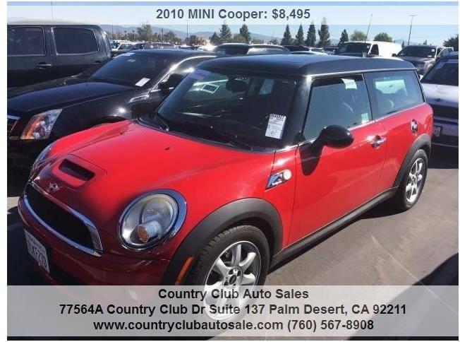2010 Mini Cooper S In Palm Desert Ca Country Club Auto Sales