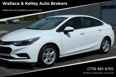 2017 Chevrolet Cruze LT Auto for sale at Wallace & Kelley Auto Brokers in Douglasville GA