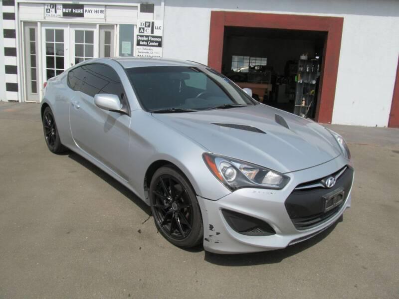 2013 Hyundai Genesis Coupe for sale at Dealer Finance Auto Center LLC in Sacramento CA
