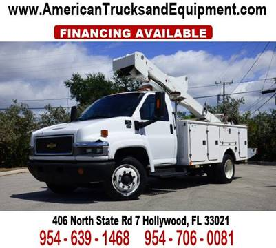 2004 Chevrolet C4500 for sale at American Trucks and Equipment in Hollywood FL