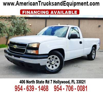 2007 Chevrolet Silverado 1500 for sale at American Trucks and Equipment in Hollywood FL