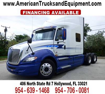 2011 International PROSTAR PREMIUM for sale at American Trucks and Equipment in Hollywood FL